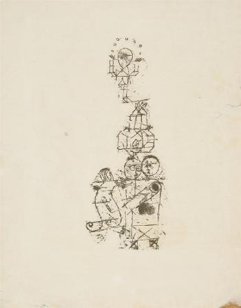 Paul Klee-Akrobaten (From The Periodical Munchner Blatter Fur Dichtung Und Graphik)-1919