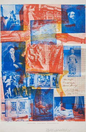 Robert Rauschenberg-Robert Rauschenberg - Centennial Certificate (Metropolitan Museum of Art)-1970