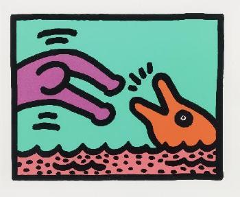 Keith Haring-Keith Haring - Plate I Aus: Pop Shop V-1989