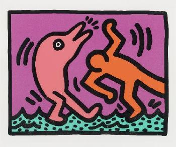 Keith Haring-Keith Haring - Plate IV Aus: Pop Shop V-1989