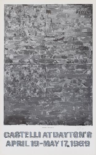 Jasper Johns-Castelli At Dayton's (Two Flags 1959)-1969