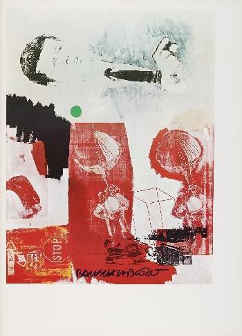 Robert Rauschenberg-Robert Rauschenberg - Quote (J.F.K. And Parachute)-1964