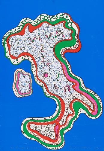 Niki de Saint Phalle-Viva L'italia-1986