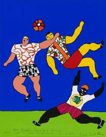 Niki de Saint Phalle-Joueurs De Rugby (1993), (Die Rugbyspieler)-1993
