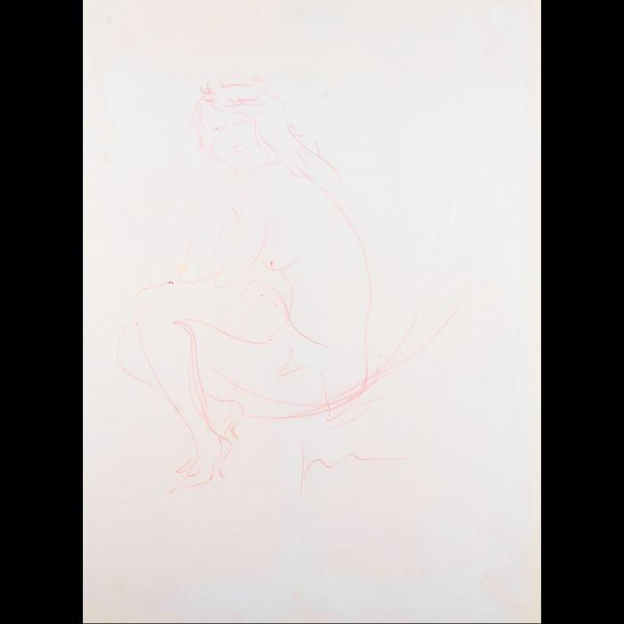 Lucio Fontana-Nudo femminile-1957