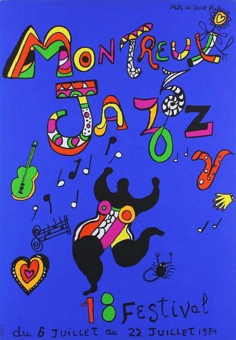 Niki de Saint Phalle-Plakat Montreuil Jazz Festival, (18e Festival de Jazz a Montreux (Affiche))-1984