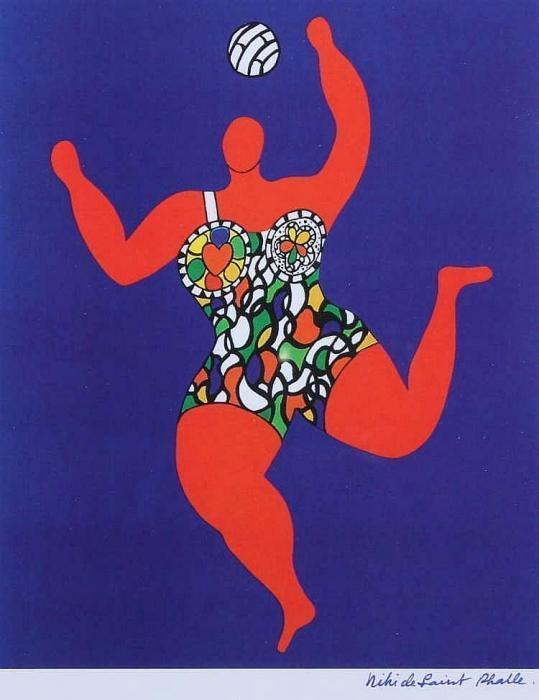 Niki de Saint Phalle-Ballspielende Nana-1991