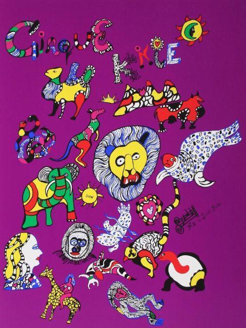 Niki de Saint Phalle-Cirque Knie, (Plakat Cirque Knie)-1980