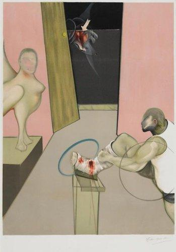 Francis Bacon-Oedipus and the Sphinx (after Ingres)-1984