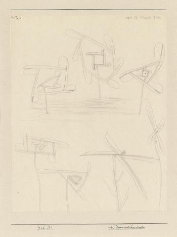 Paul Klee-Sieben Kynamoradiolaren Und Andere (Seven Dynamo-Radiolarians And Others)-1926