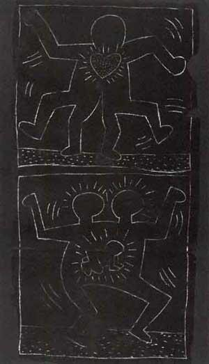 Keith Haring-Keith Haring - Subway Drawing-1980