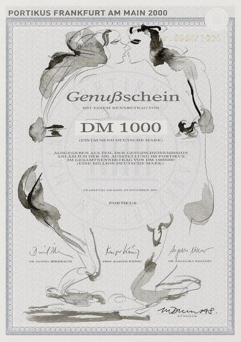 Marlene Dumas-Genußchein (Sonderausgabe fur Portikus, Frankfurt am Main)-2000