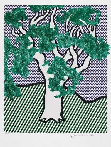 Roy Lichtenstein-Rain Forest-1992