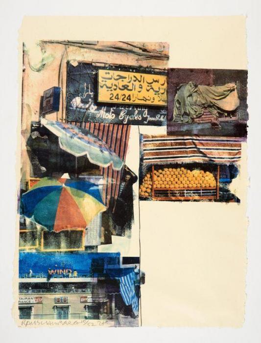 Robert Rauschenberg-Robert Rauschenberg - Flaps (from the Marrakitch series)-2000