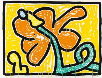 Keith Haring-Keith Haring - Flowers #5-1990
