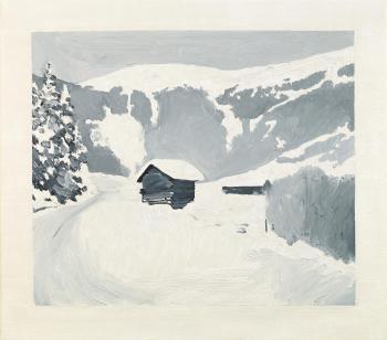 Gerhard Richter-Alpenlandschaft im Winter (Alpine Landskape in Winter-1966
