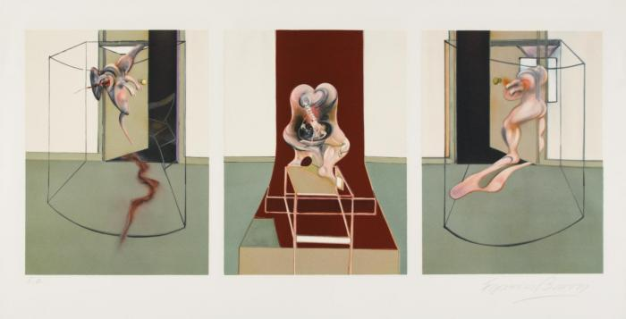 Francis Bacon-Triptych inspired by Oresteia of Aeschylus-1981