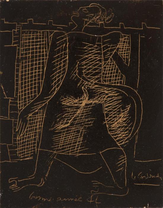 Le Corbusier-Ohne Titel (Neujahrsgrusse)-1944
