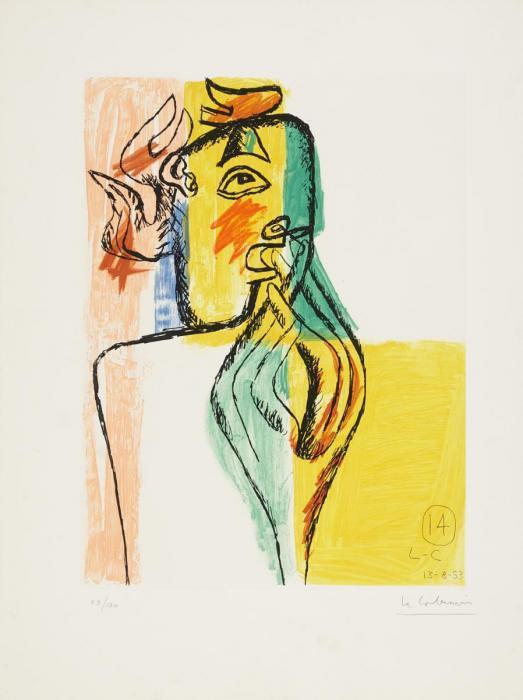 Le Corbusier-Aus: 'Unite' (Nr. 14)-1965
