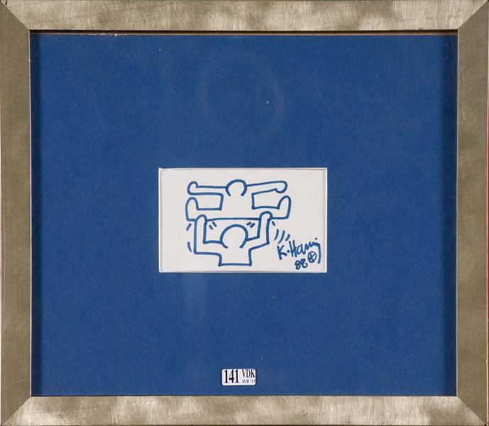 Keith Haring-Keith Haring - Deux personnages en echelle (Two characters in scale)-1989