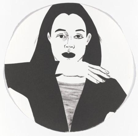 Alex Katz-Portrait in a Convex Mirror-1984
