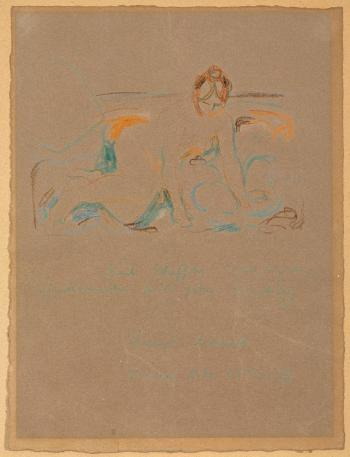 Edvard Munch-Kniender weiblicher Akt-1929