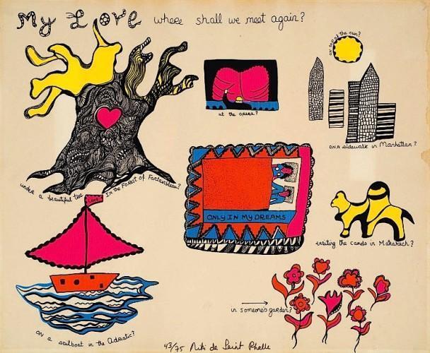 Niki de Saint Phalle-My Love where shall we meet again-1969