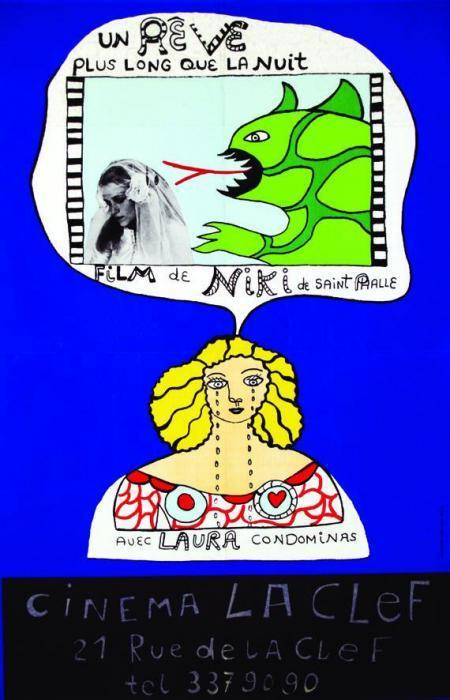 Niki de Saint Phalle-Un Reve Plus Long Que La Nuit. Cinema La Clef-1976