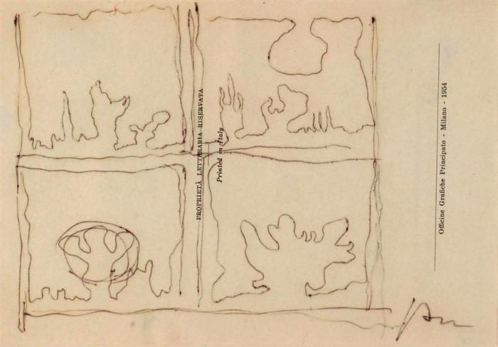Lucio Fontana-Quattro studi per Teatrini-1964
