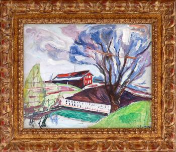 Edvard Munch-The Red House-1930