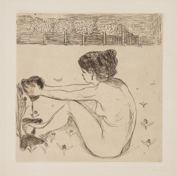 Edvard Munch-Piken og Hjertet / The Woman and the Heart-1896