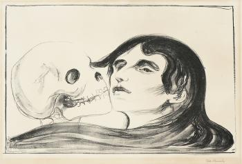 Edvard Munch-Dodskyss / Todeskuss / Kiss of Death (Sch. 119; W. 144)-1899