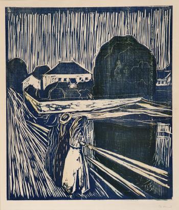 Edvard Munch-Girls on the Bridge / Madchen auf der Brucke / Pikene pa Broen-1918