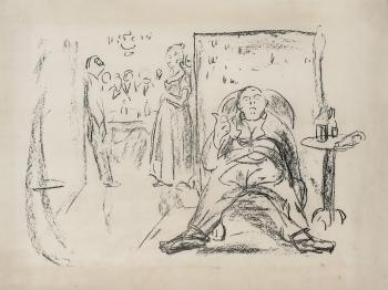 Edvard Munch-Karikatur: Den Lystige Ektemann-1910