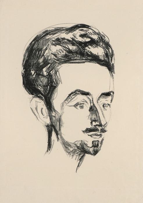 Edvard Munch-Helge Rode (Woll 310 A)-1909