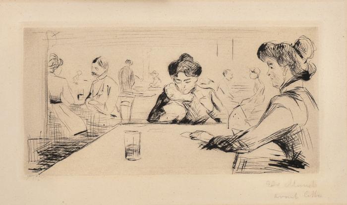 Edvard Munch-Hopfenblute - Public House, Berlin-1902