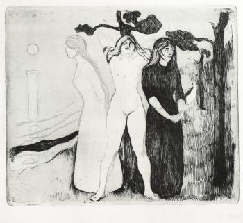 Edvard Munch-The Woman II / Kvinnen II / Das Weib (Woll 22)-1895