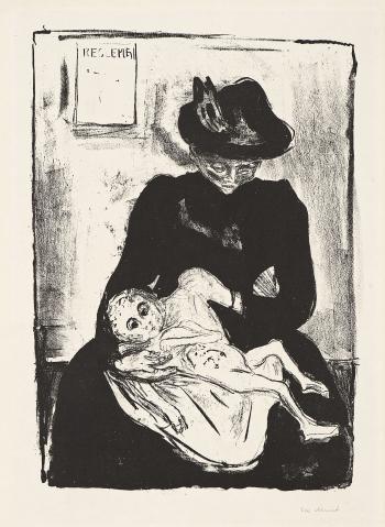 Edvard Munch-Arv / Ererbt / Inheritance / Heritage (W. 603)-1916