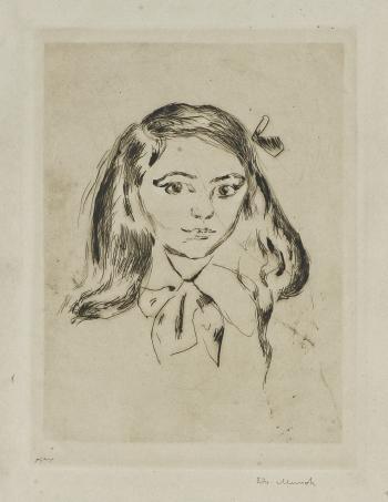 Edvard Munch-Paul Cassiers Datter / Paul Cassirer's Daughter-1906