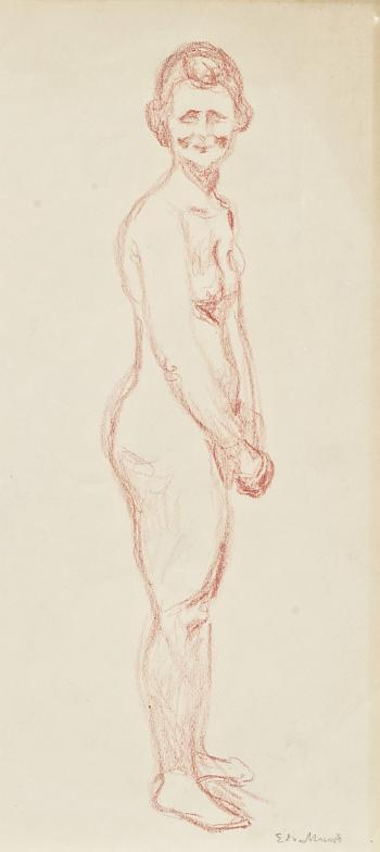 Edvard Munch-Standing Red Nude-