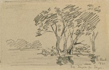 Edvard Munch-Landscape with Trees-1880
