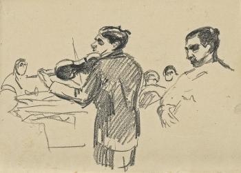 Edvard Munch-Violinist-