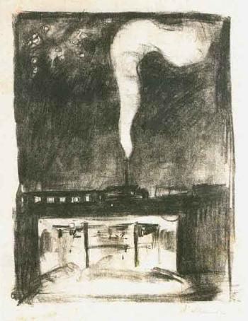 Edvard Munch-Train / Smoke from the Train - Subcrossing-1920