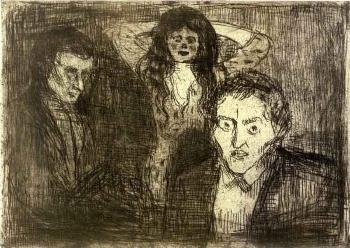 Edvard Munch-Jealousy-1914