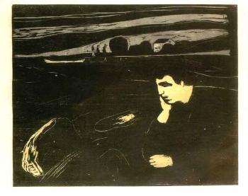 Edvard Munch-Melancholy (Evening)-1902