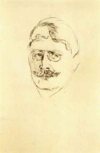 Edvard Munch-Knut Hamsun-1896