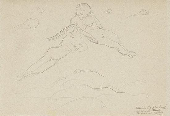 Edvard Munch-Studie til Eterhavet-