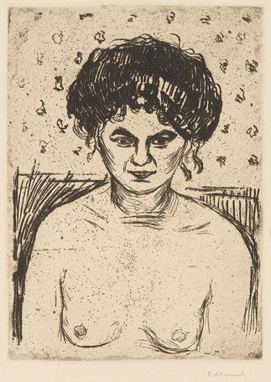 Edvard Munch-Bordellpike (Prostitute)-1904