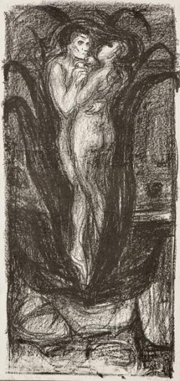 Edvard Munch-Kjaerlighetsblomsten / The Flower of Love / Die Blume der Liebe (Woll 80)-1896