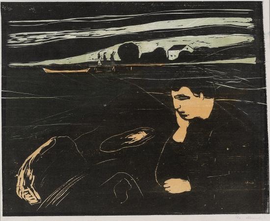 Edvard Munch-Melankoli III (Woll no. 203 III)-1902